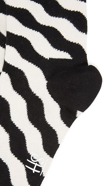 HS Wave Polka Socks