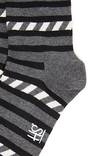 HS Stripes & Stripes Socks