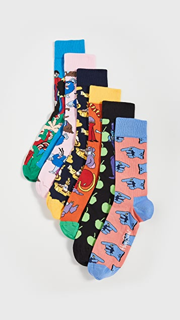 Happy Socks Beatles LP Collector's Box Socks