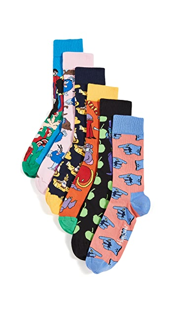 Happy Socks Beatles LP Collector's Box Socks