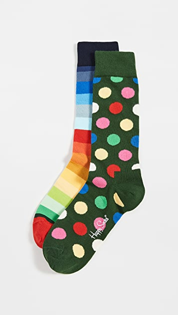 Happy Socks Classic Holiday Socks Gift Set