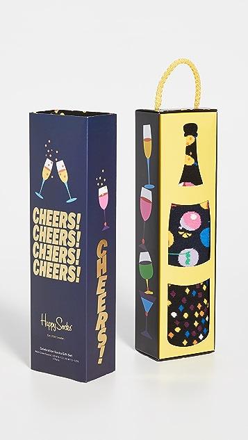 Happy Socks Cheers Gift Box Socks Set