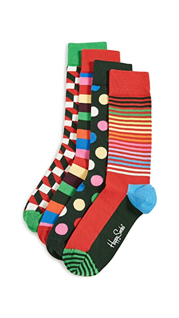 Happy Socks Classic Holiday Socks Gift Set Socks
