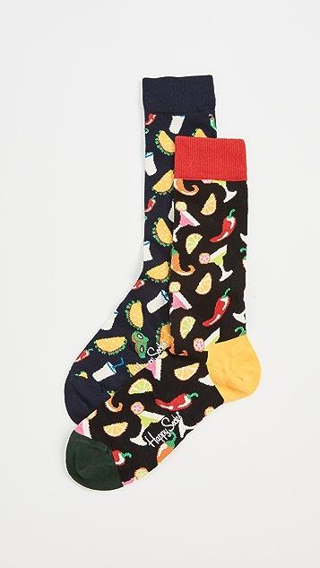 Happy Socks 2 Pack Taco Socks Gift Set