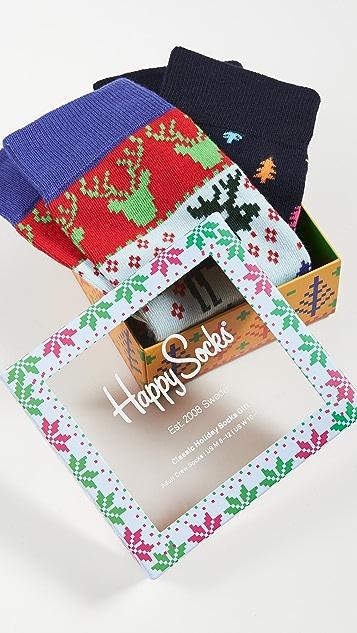 Happy Socks Fair Isle Socks Gift Set
