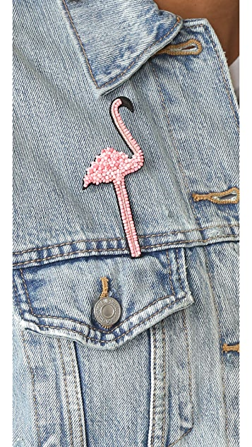 Huda Al Nuaimi Фламинго Pin