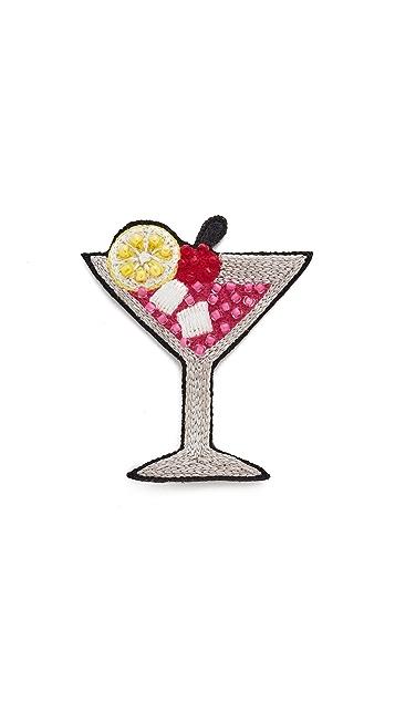 Huda Al Nuaimi Martini Glass Pin