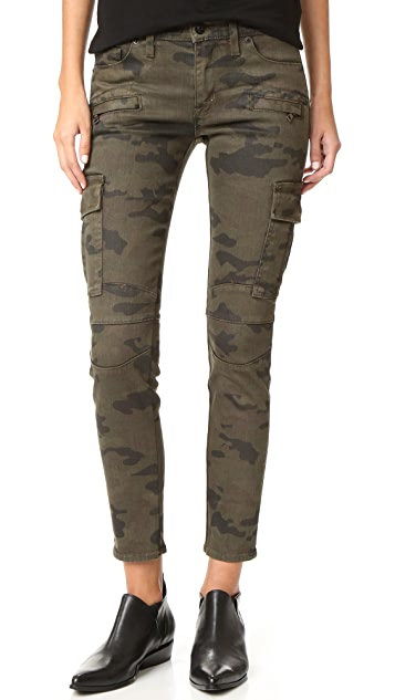 Hudson Colby Ankle Moto Skinny Cargo Jeans