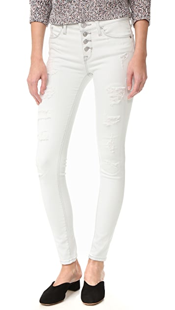 Hudson Ciara Skinny Jeans with Exposed Buttons