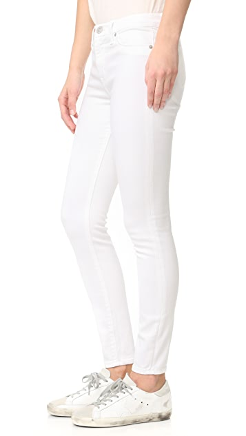 Hudson Nico Mid Rise Super Skinny Ankle Jeans