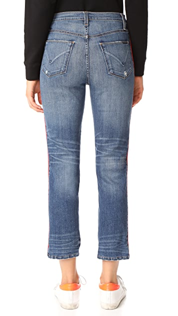 Hudson Custom Zooey High Rise Straight Leg Jeans