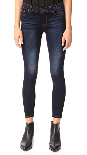Hudson Nico Mid Rise Ankle Super Skinny Jeans - Calvary