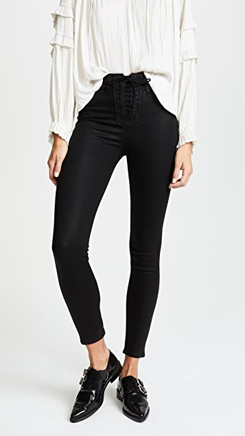 733e4e3affe Hudson Bullocks High Rise Lace Up Jeans | SHOPBOP