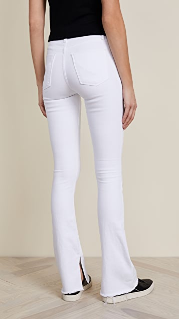 Hudson Heartbreaker High Rise Boot Cut Jeans with Slits