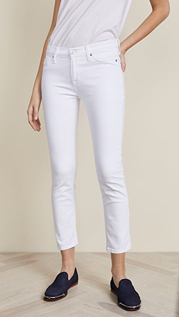 Hudson Tally Midrise Ankle Skinny Jeans - Optical White