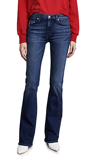 Hudson Drew Mid Rise Boot Cut Jeans