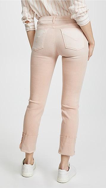 Hudson Tally Deep Cuff Crop Skinny Jeans