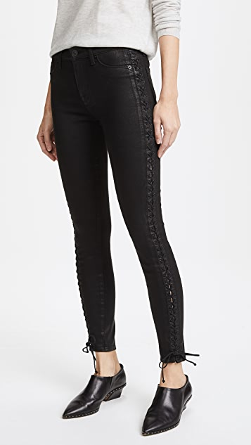 Hudson Stevie Lace Up Skinny Jeans