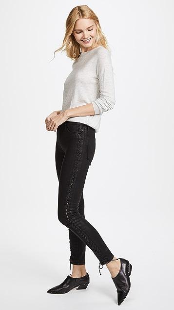 Hudson Stevie Lace Up Skinny Jeans