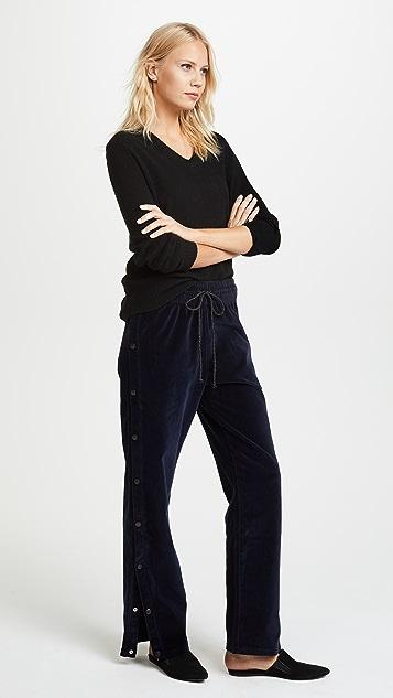 Hudson Aria Velvet Track Pants