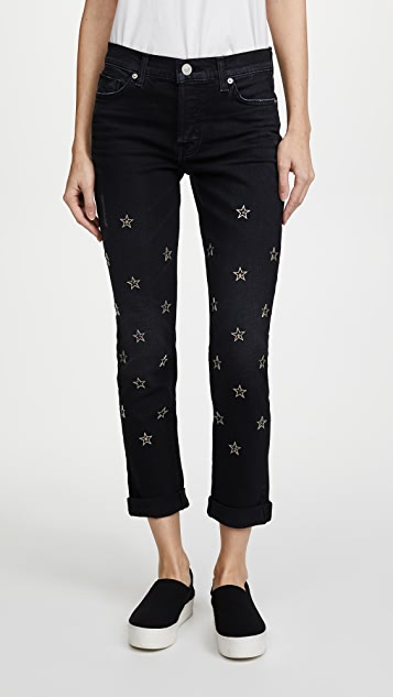 Hudson Riley Crop Relaxed Straight Jeans - Mythology