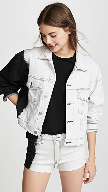 Hudson x Baja East Rei Cropped Jacket - Black/White