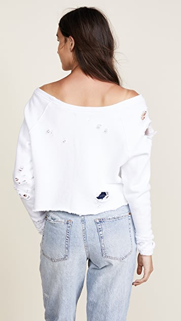 Hudson x Baja East Drop Shoulder Cropped Sweatshirt