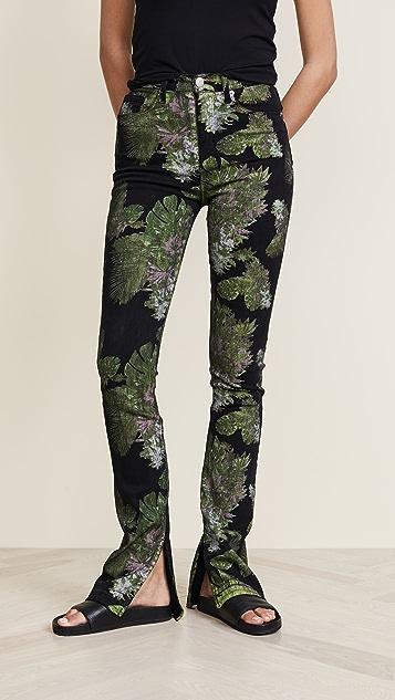 Hudson x Baja East Heartbreaker High Rise Bootcut Jeans - Baja East Weed