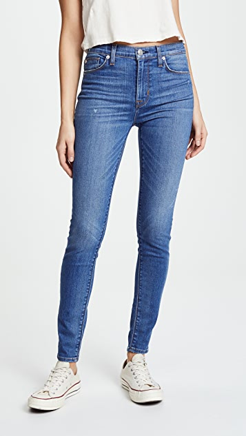Hudson Barbara High Waist Super Skinny Jeans - Ultralight