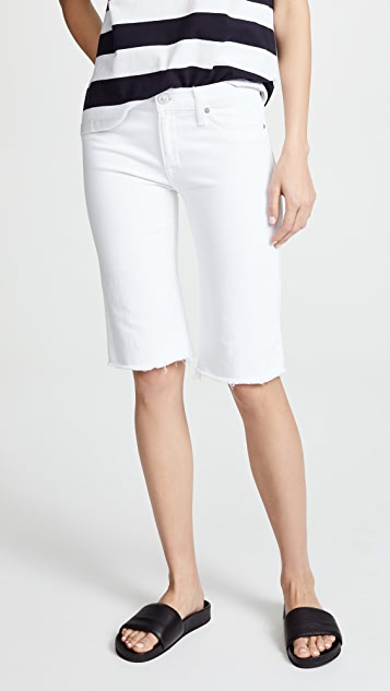 Hudson Amelia Cutoff Knee Shorts - Optical White