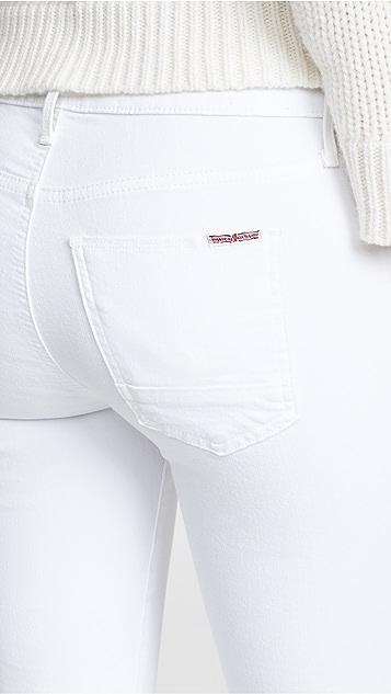 Hudson Mia Mid Rise White Jeans