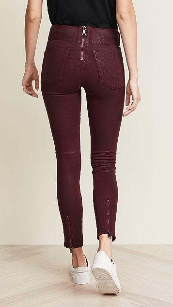 Hudson High Rise Moto Skinny Jeans