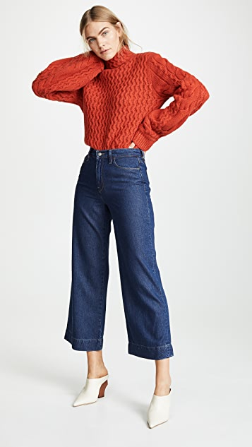 Hudson Holly High Rise Wide Leg Crop Jeans