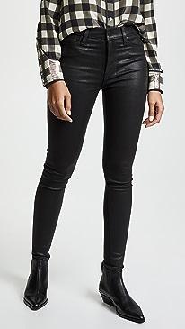 Barbara Noir Coated Jeans