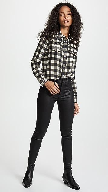 Hudson Barbara Noir Coated Jeans