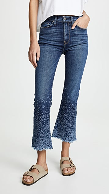 Hudson Holly High Rise Cropped Flare Jeans