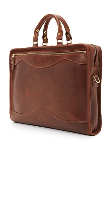 J.W. Hulme Co. American Heritage Leather Portfolio Briefcase