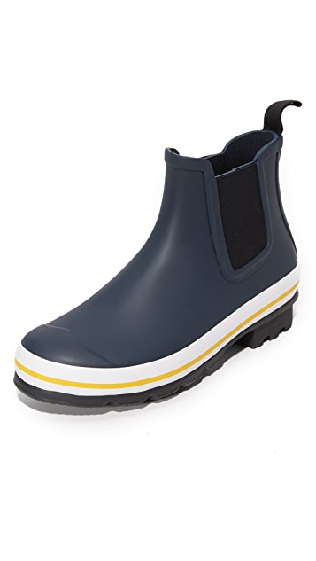 Hunter Boots Original Rubber Chelsea Buoy Stripes Boots