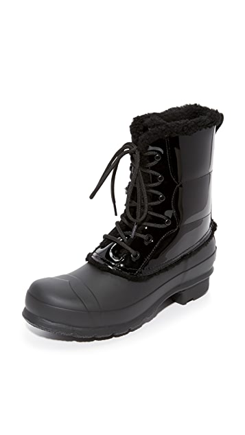 46f95fb9029d Hunter Boots Original Patent Lace Up Booties