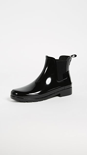 Hunter Boots Original Refined Chelsea Booties - Black