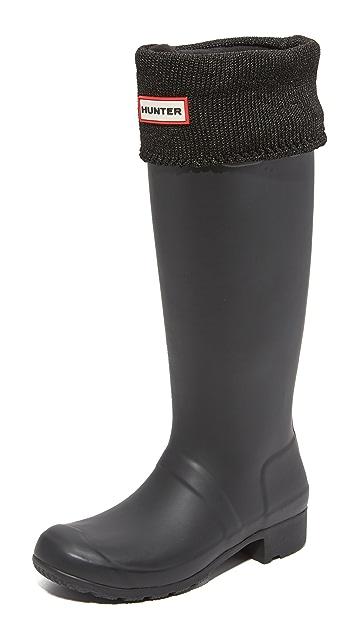 Hunter Boots Glitter Cuff Boot Socks