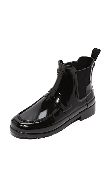 d57876b85c1 Hunter Boots Original Refined Penny Loafer Booties