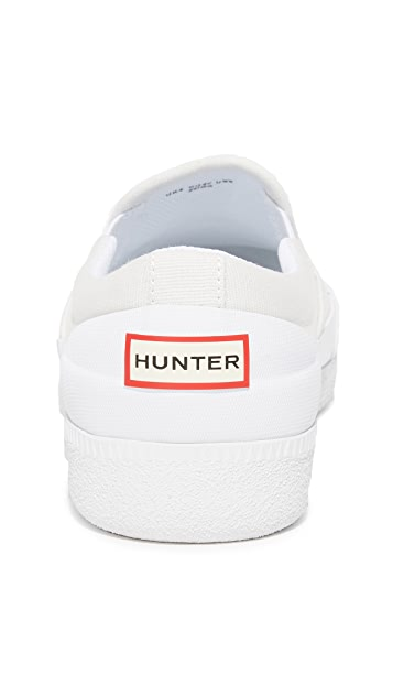 Hunter Boots Original Refined Canvas Slip On Sneakers