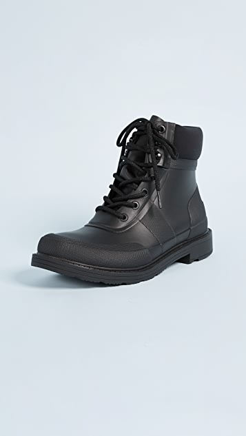 Hunter Boots Original Rubber Commando Boots - Black
