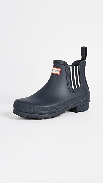 Hunter Boots Original Garden Stripe Chelsea Boots - Navy