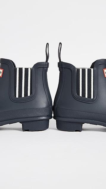 Hunter Boots Original Garden Stripe Chelsea Boots