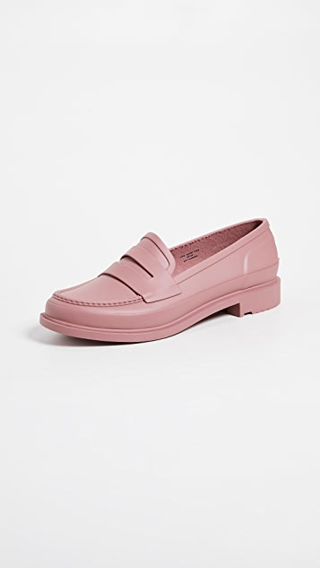 Hunter Boots Refined Penny Loafers - Pale Rose