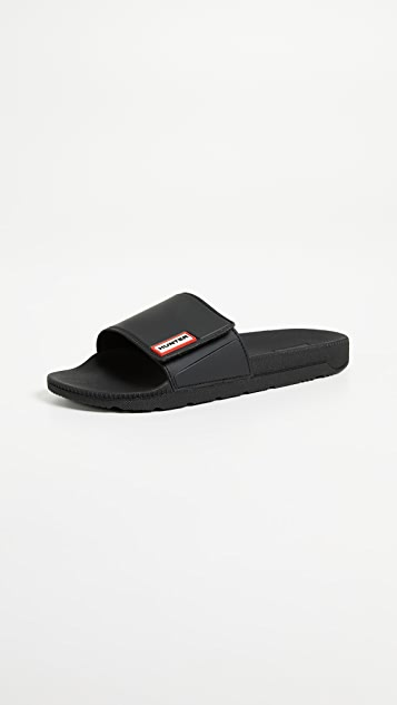 Hunter Boots Original Adjustable Slides - Black