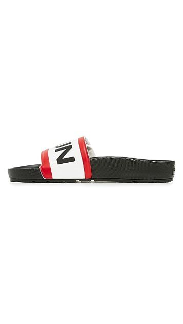 Hunter Boots Original Adjustable Logo Slide Sandals