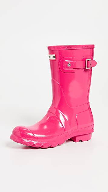 Hunter Boots Original Short Gloss Boots - Bright Pink